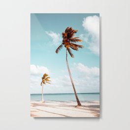 Dominican Republic Palm Beach Metal Print