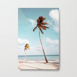 Dominican Republic Palm Beach Metal Print