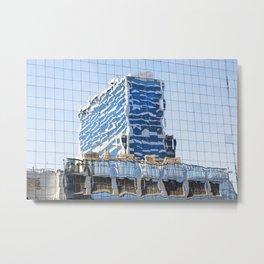 Twisted Buildings Metal Print