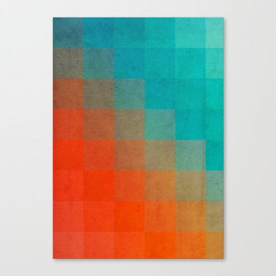Beach Pixel Surface Canvas Print