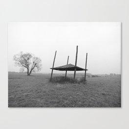 Field Shelter in Rain (Locice, Poland)   Canvas Print