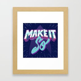 Boldly Go Framed Art Print