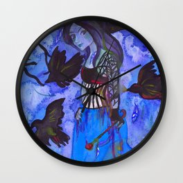 Ravenwitch - Shades of Blue Wall Clock