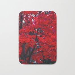 Red Maple leaves Bath Mat