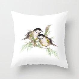 Finch couple  Throw Pillow