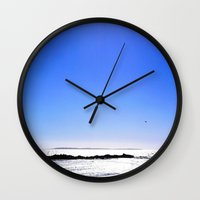 south africa Wall Clocks featuring South Africa Impression 8 by Art-Motiva