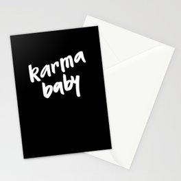 karma baby black Stationery Cards