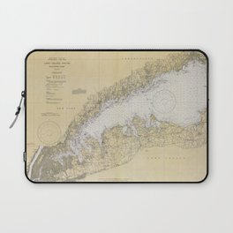 Vintage Map of The Long Island Sound (1934) Laptop Sleeve