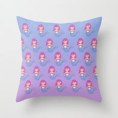 mermaids pattern Throw Pillow