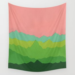 Green Mountains I Wall Tapestry