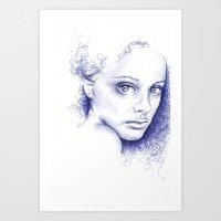 indigo Art Prints featuring Indigo by Beth Steinbauer