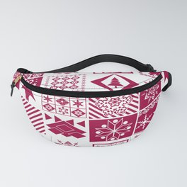 Scandinavian plaid #patchwork #Christmas #Scandinavian Fanny Pack