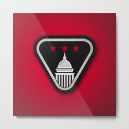 Club Scouts - Black & Red Metal Print
