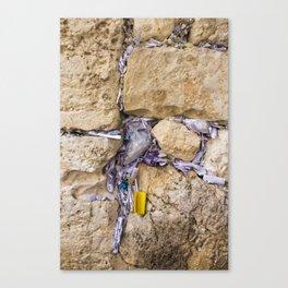 JERUSALEM, ISRAEL - Western Wall Prayers Canvas Print