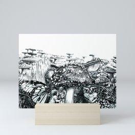 Chasing Toadstools 1 Mini Art Print