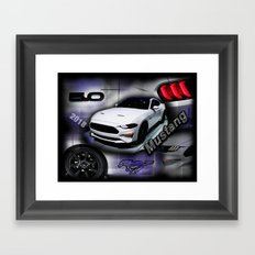 2018 Mustang Framed Art Print