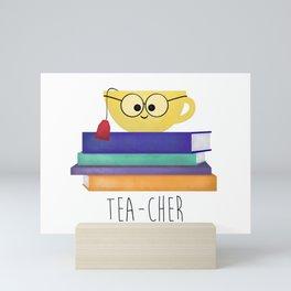 Teacher (Tea Cup And Books) Mini Art Print
