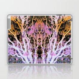 Neon Mirrored Trees Laptop & iPad Skin