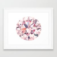 diamond Framed Art Prints featuring diamond by Kazuma Shimizu