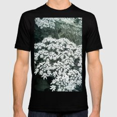 Lace MEDIUM Black Mens Fitted Tee