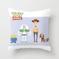 toy story Throw Pillows featuring Toy Story by YoongSin
