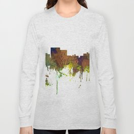 Chatanooga Tennessee Skyline - Safari Buff Long Sleeve T-shirt