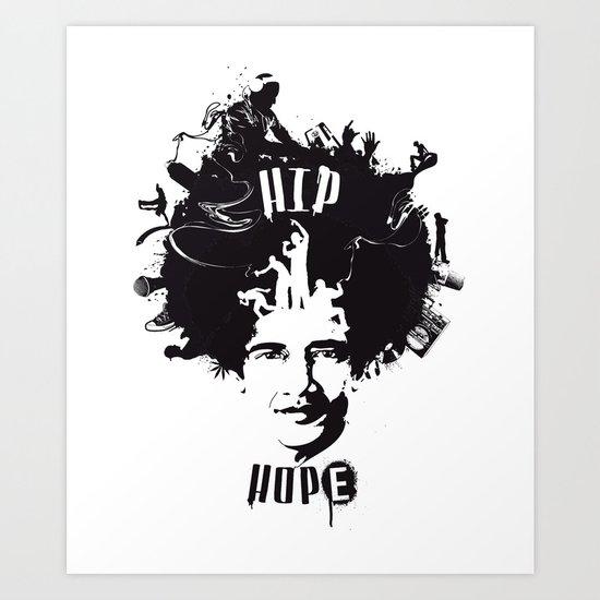 HIP HOPE Art Print