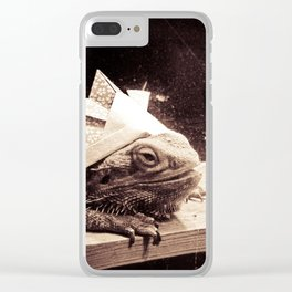 Paper Samurai, Bearded Dragon, Lizard Clear iPhone Case