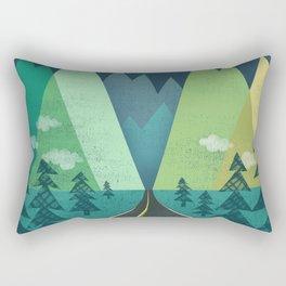 The Long Road at Night Rectangular Pillow