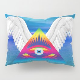 Third Eye with Wings Pillow Sham