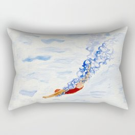 Swimmer - diving Rectangular Pillow