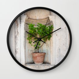 Lemon Tree in a Pot Wall Clock