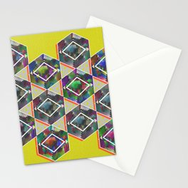Tribal Octagon Vibes Textured Home Goods Urban Pattern Stationery Cards