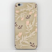vintage flowers iPhone & iPod Skins featuring vintage flowers by Julia Tomova