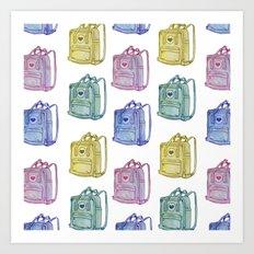 I Love Backpacks Art Print