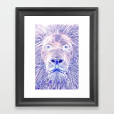 Electric Lion Framed Art Print