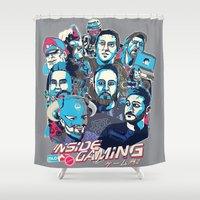 gaming Shower Curtains featuring Inside Gaming by MikeRush