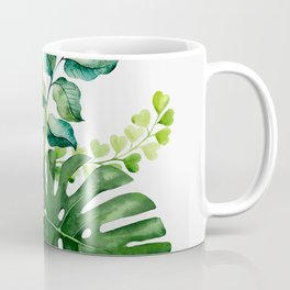 Flower and Leaves Coffee Mug