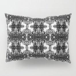 Black and White Skulls Repeats Pillow Sham
