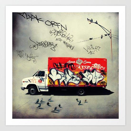 Andrea's Catering Truck Art Print