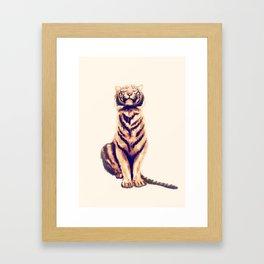Zen Tiger  Framed Art Print