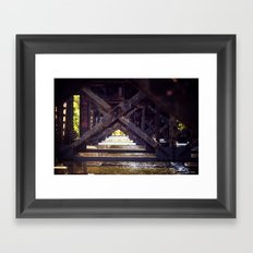 Rusty Bridge Framed Art Print