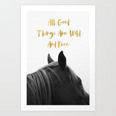 Wild & Free - Horse Art Print