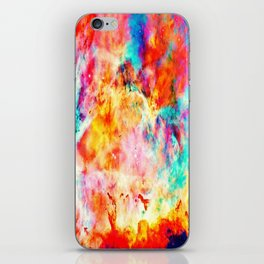 Colorful Abstract Nebula iPhone Skin