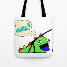 Hungry Slug Monster Tote Bag