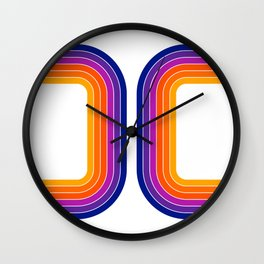 Rainbow Tunnel Wall Clock