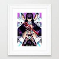 kill la kill Framed Art Prints featuring Kill La Kill by 121gigawatts