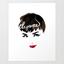 Bombshell Series: Elegance - Audrey Hepburn Art Print
