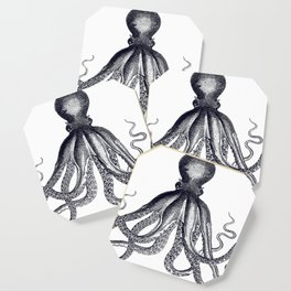 Octopus | Black and White Coaster