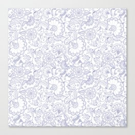 Fly EYES - Patterns BLUE - flowers, floral Canvas Print